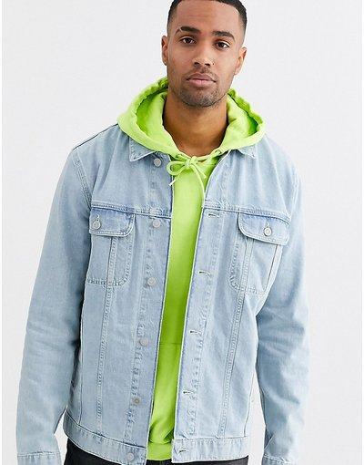 Blu uomo Giacca di jeans oversize lavaggio chiaro - ASOS DESIGN Tall - Blu