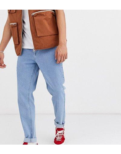 Jeans Blu uomo Jeans rigidi classici blu stone wash chiaro - ASOS DESIGN Tall