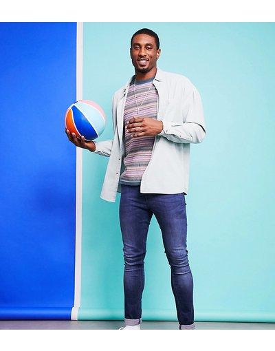 Jeans Blu uomo Jeans super skinny lavaggio scuro - ASOS DESIGN Tall - Blu