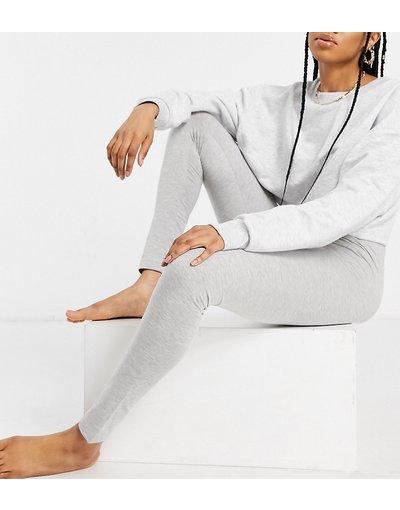 Pigiami Grigio donna Leggings Mix&Match del pigiama in jersey grigio mélange - ASOS DESIGN Tall