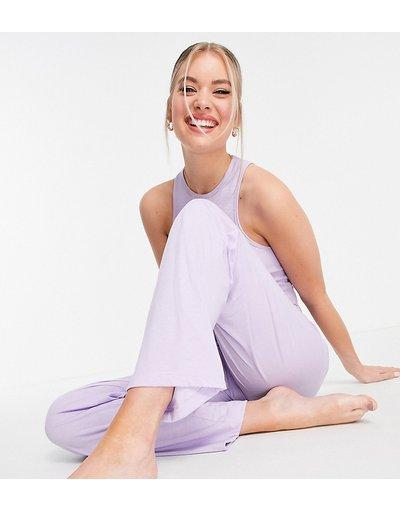 Pigiami Viola donna Pantaloni del pigiama dritti in jersey lilla - ASOS DESIGN Tall - Mix&Match - Viola