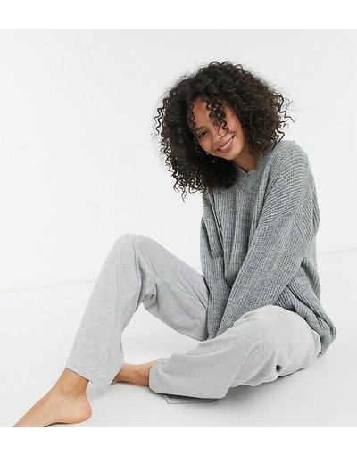 Pigiami Grigio donna Pantaloni mix&match del pigiama dritti in jersey grigio mélange - ASOS DESIGN Tall