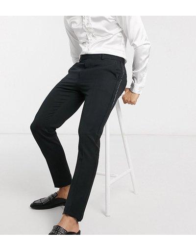 Nero uomo Pantaloni stile smoking skinny eleganti neri - ASOS DESIGN Tall - Nero