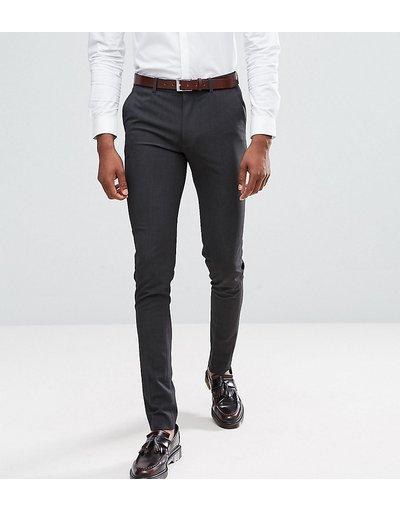 Grigio uomo Pantaloni super skinny eleganti antracite - ASOS DESIGN Tall - Grigio