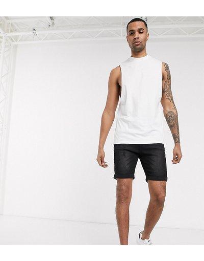 T-shirt Bianco uomo shirt comoda senza maniche in tessuto biologico bianco con giromanica ampio - ASOS DESIGN Tall - T
