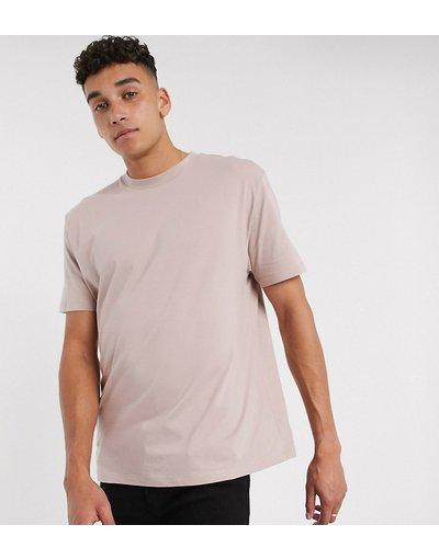 T-shirt Rosa uomo shirt girocollo comoda in tessuto organico rosa - ASOS DESIGN Tall - T