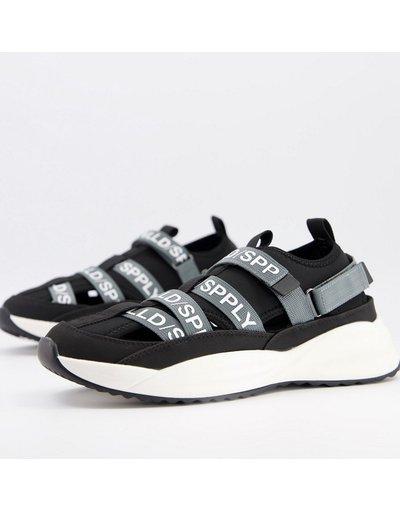 Sandali Nero uomo Sneakers a sandalo con fascette - Unrvlld Spply - ASOS - Nero