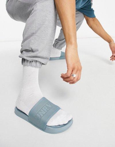 Novita Blu uomo Sliders in maglia blu - ASOS Unrvlled Spply