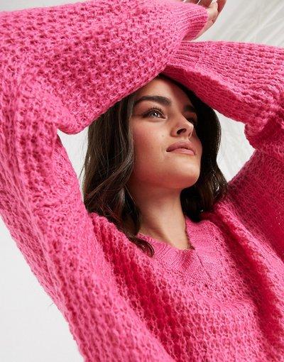 Rosa donna Maglione in ciniglia spessa rosa - AX Paris