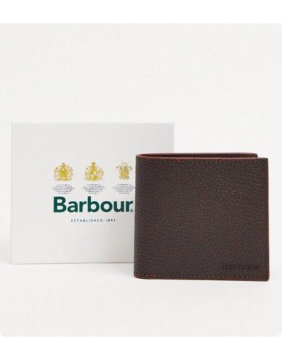 Portafoglio Marrone uomo Portafoglio in pelle zigrinata marrone - Barbour