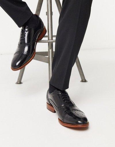 Scarpa elegante Nero uomo Scarpe brogue nero lucido - Base London - Cast