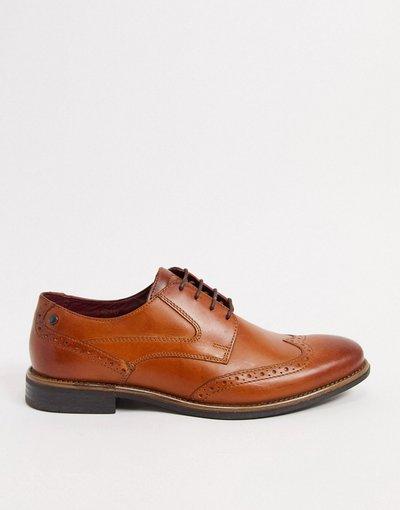 Scarpa elegante Cuoio uomo Scarpe brogue in pelle cuoio - Base London - Risco