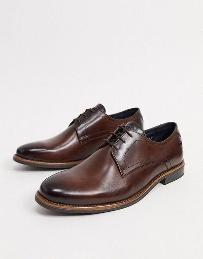 Scarpa elegante Marrone uomo Scarpe stringate in pelle marroni - Base London - Marrone