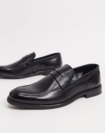 Scarpa elegante Nero uomo Mocassini eleganti in pelle nera - Base London - Varone - Nero