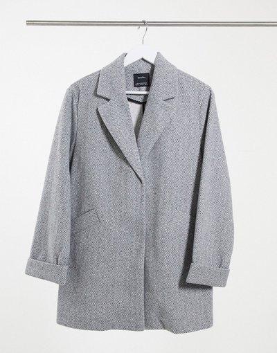 Grigio donna Cappotto grigio - Bershka