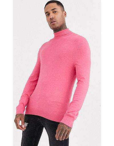Rosa uomo Maglione con collo alto rosa - Bershka