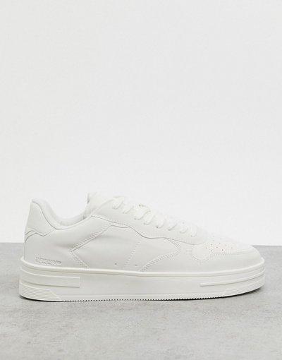 Stivali Bianco uomo Sneakers bianche con dettagli riflettenti - Bershka - Bianco