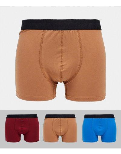 Calze Multicolore uomo Confezione da 3 boxer, slip e boxer aderenti - Bolongaro Trevor - Multicolore