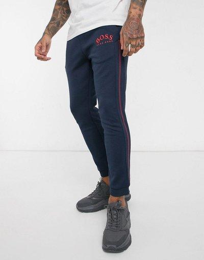 Novita Navy uomo Joggers blu navy con logo ricamato - BOSS Athleisure - Hadiko
