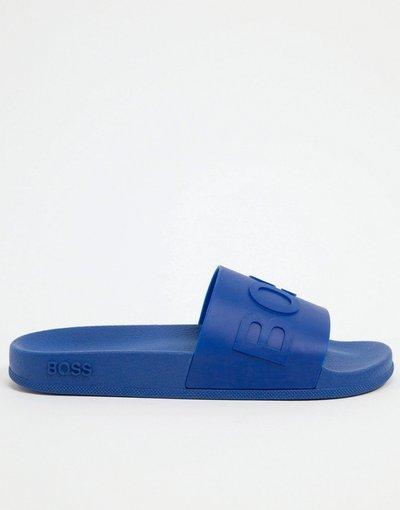 Sneackers Blu uomo Slider - BOSS - Bay - Blu