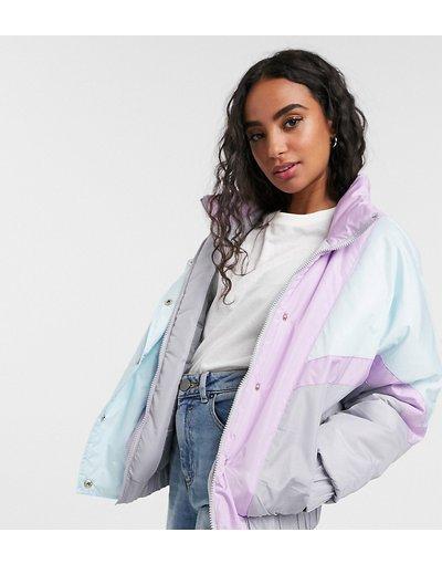Multicolore donna Giacca da sci in colori pastello misti - Brave Soul Petite - Multicolore - Cascada