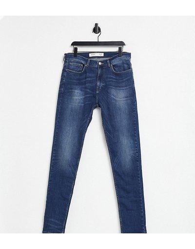 Jeans Blu uomo Jeans affusolati in blu medio - Burton Menswear Big&Tall