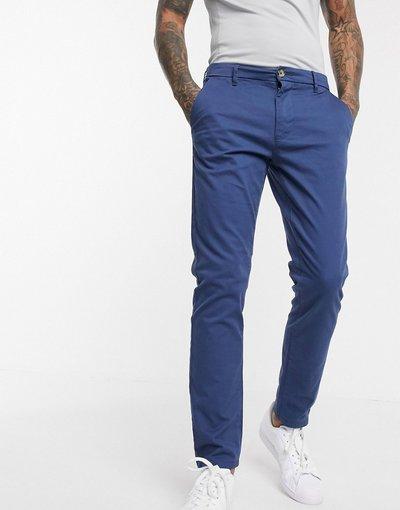 Pantalone Blu uomo Chino slim blu denim - Burton Menswear