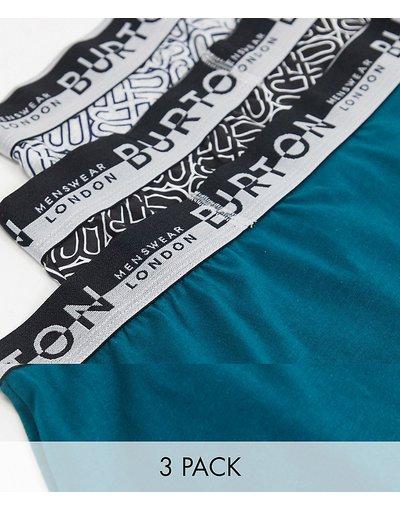 Calze Nero uomo Confezione da 3 boxer aderenti con stampa geometrica - Burton Menswear - Nero