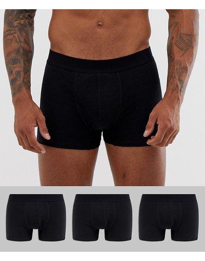 Intimo Nero uomo Confezione da 3 boxer aderenti monocromatici - Burton Menswear - Nero