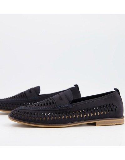 Scarpa elegante Blu navy uomo Mocassini con cut - Burton Menswear - out blu navy