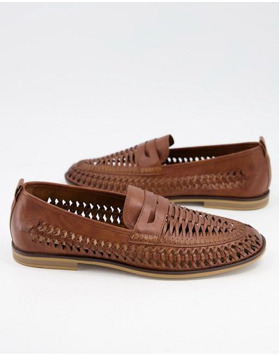 Scarpa elegante Marrone uomo Mocassini con cut - Burton Menswear - out marroni - Marrone