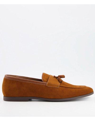 Scarpa elegante Marrone uomo Mocassini con nappe color cuoio - Burton Menswear - Marrone
