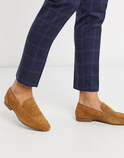 Scarpa elegante Cuoio uomo Mocassini in camoscio color cuoio - Burton Menswear