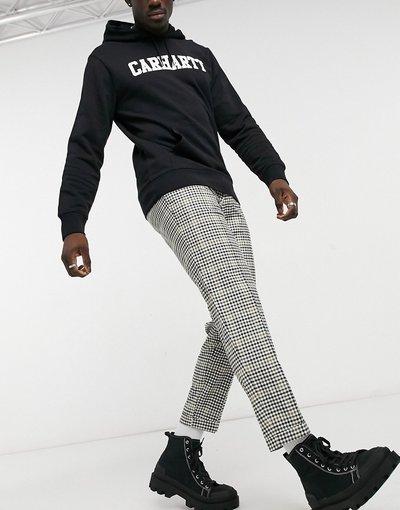 Multicolore uomo Pantaloni affusolati corti a quadretti multicolore - Burton Menswear