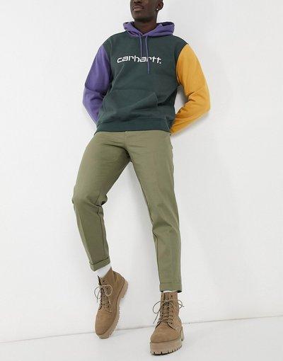 Verde uomo Pantaloni corti affusolati kaki - Burton Menswear - Verde