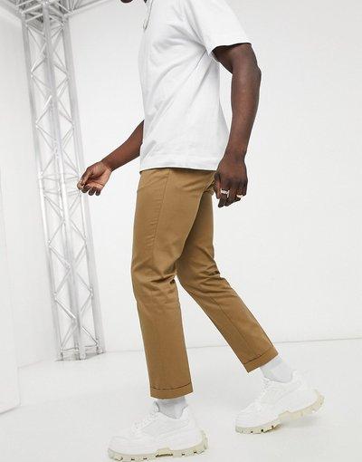 Cuoio uomo Pantaloni corti slim cuoio - Burton Menswear