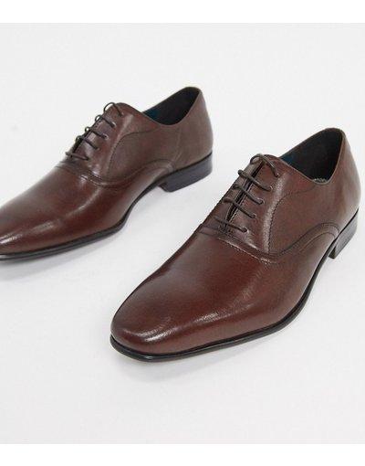 Scarpa elegante Marrone uomo Scarpe Oxford in pelle marrone - Burton Menswear