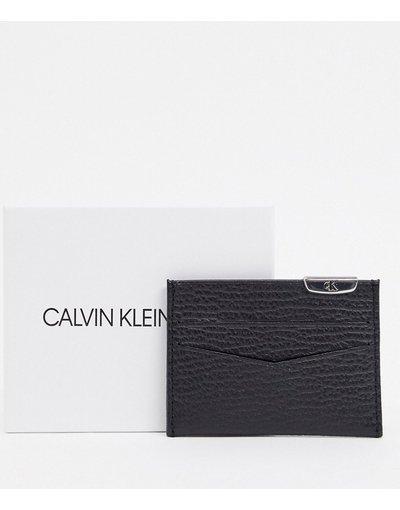 Portafoglio Nero uomo portacarte nero con logo argento - Calvin Kelin Jeans