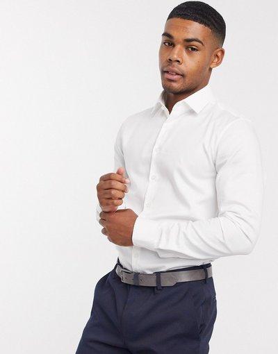 Camicia slim facile da stirare - Calvin Klein - Bianco  uomo Bianco