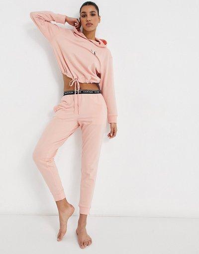 Pigiami Rosa donna Joggers da casa rosa con logo - Calvin Klein - CK One
