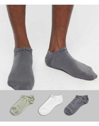 Sneackers Multicolore uomo Confezione da 3 calzini sportivi con logo - Calvin Klein - Multicolore