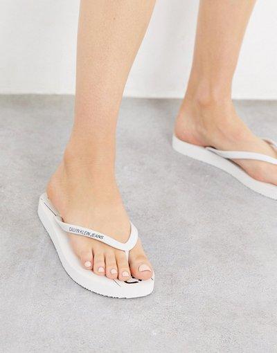 Infradito Bianco donna Infradito con logo bianche - Calvin Klein - Dasheen - Bianco