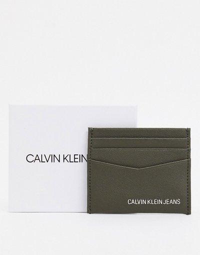 Portafoglio Verde uomo Calvin Klein Jeans - Portacarte kaki - Verde