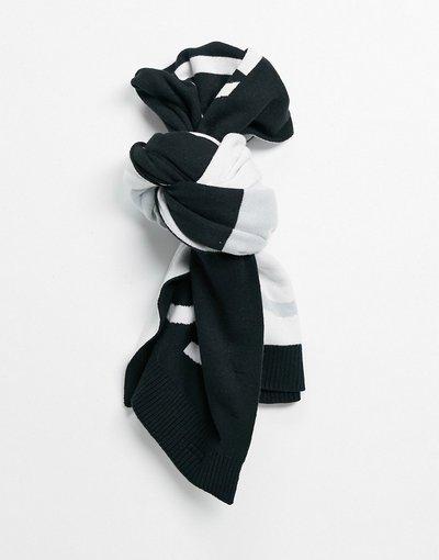 Nero uomo Sciarpa nera con logo - Calvin Klein Jeans - Nero