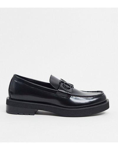 Scarpa elegante Nero uomo Mocassini neri con suola spessa - Calvin Klein - Novic - Nero