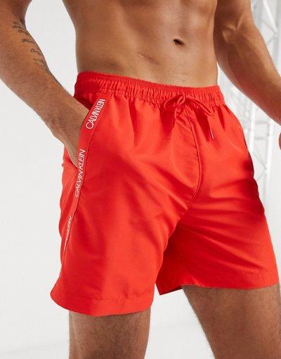Costume Rosso uomo Pantaloncini da bagno di media lunghezza rossi - Calvin Klein - Rosso
