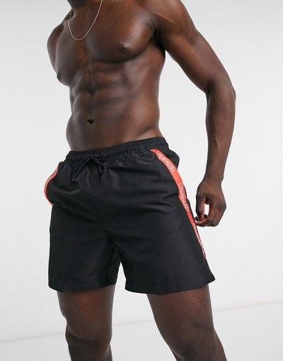 Costume Nero uomo Pantaloncini da bagno neri di media lunghezza - Calvin Klein - Nero