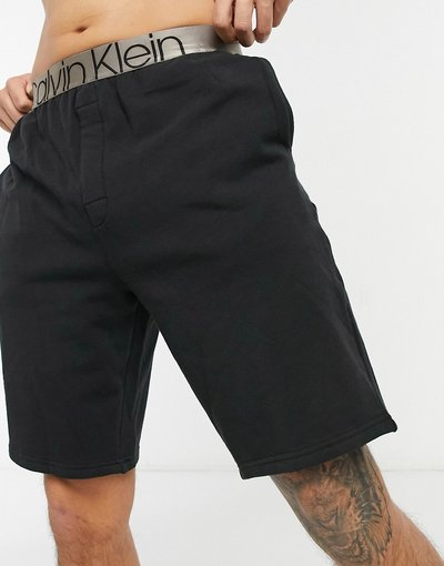 Pigiami Nero uomo Pantaloncini da casa neri con logo - Calvin Klein - Nero