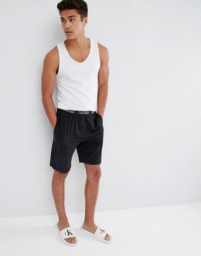 Pigiami Nero uomo Pantaloncini da casa regular neri - Calvin Klein - Nero