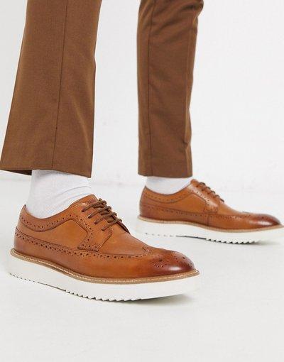 Scarpa elegante Cuoio uomo Scarpe brogue in pelle color cuoio - Ernest - Clarks